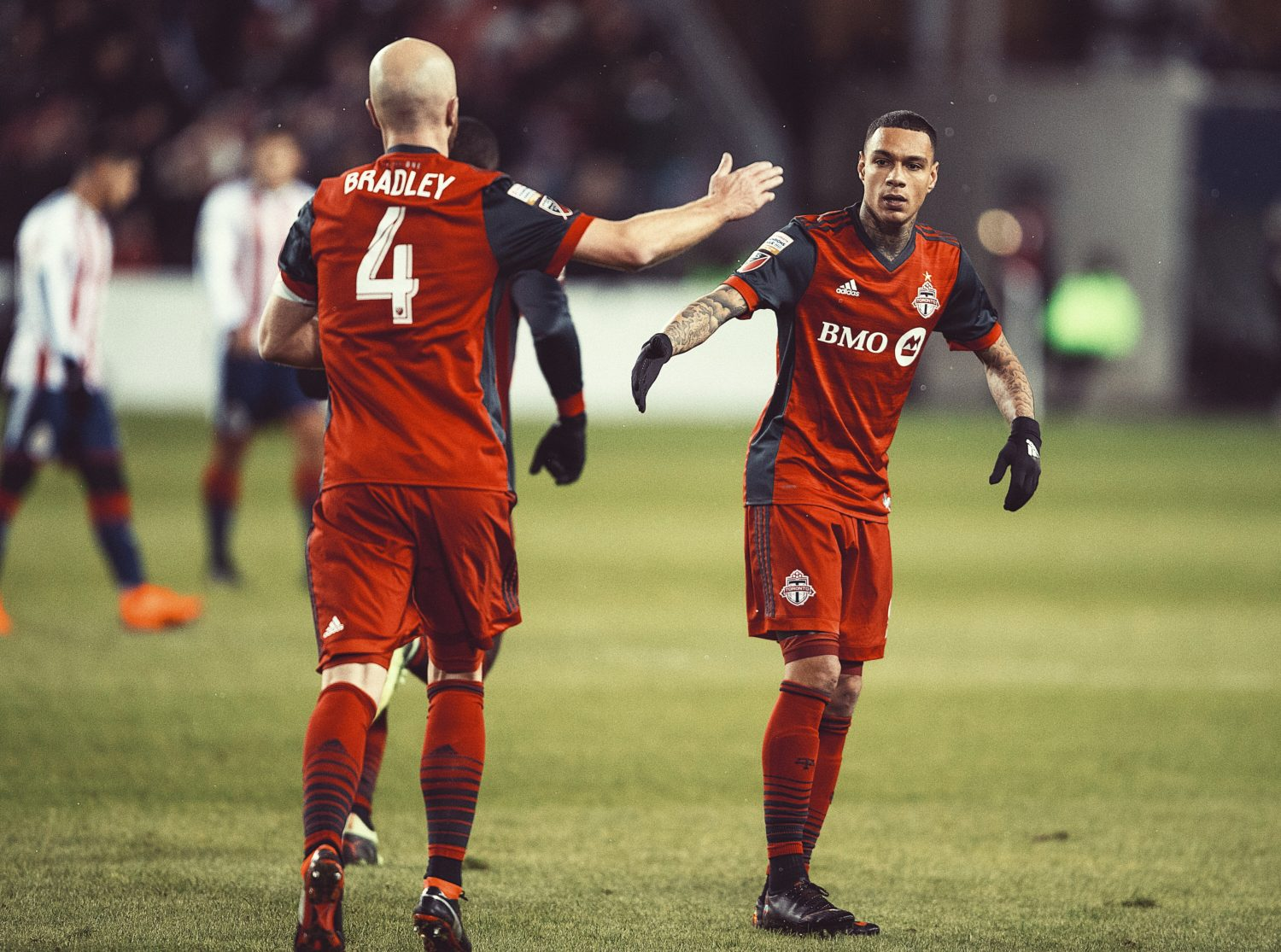 Gregory van der Wiel and Michael Bradley