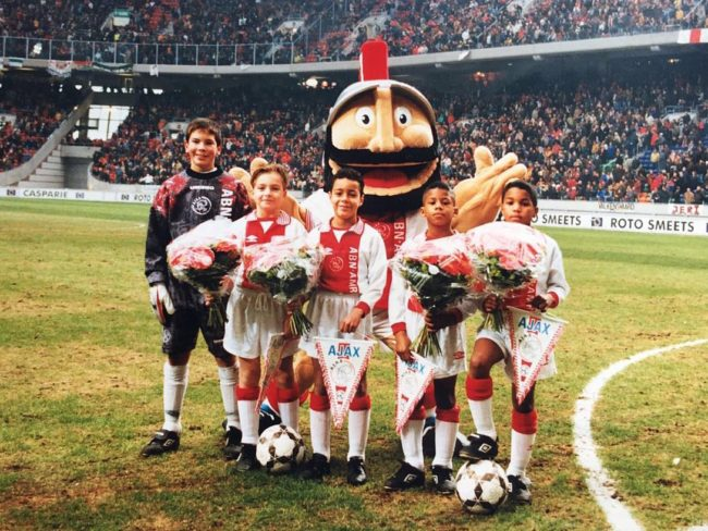 Gregory van der Wiel as a kid in Ajax youth