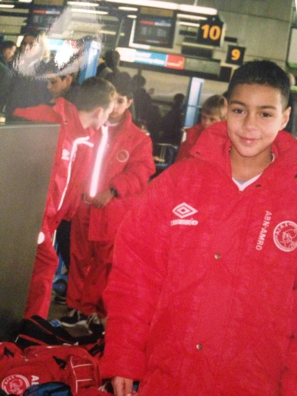Gregory van der Wiel as a kid