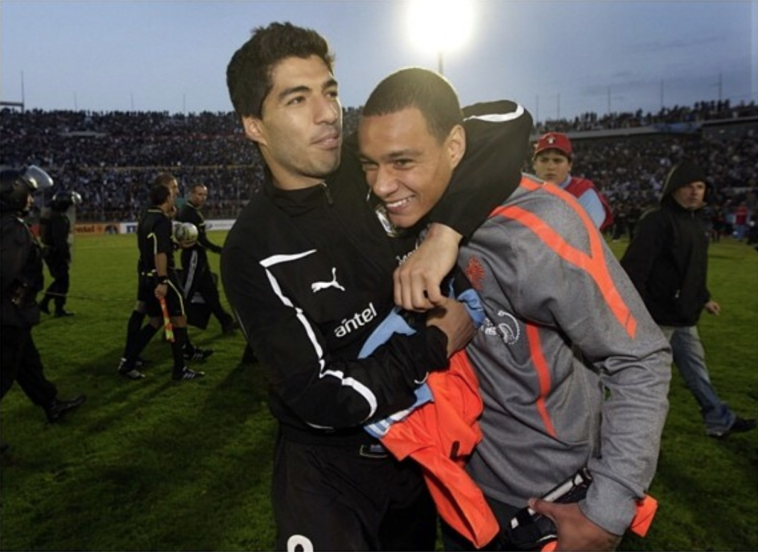 Gregory van der Wiel at the Dutch national soccer team