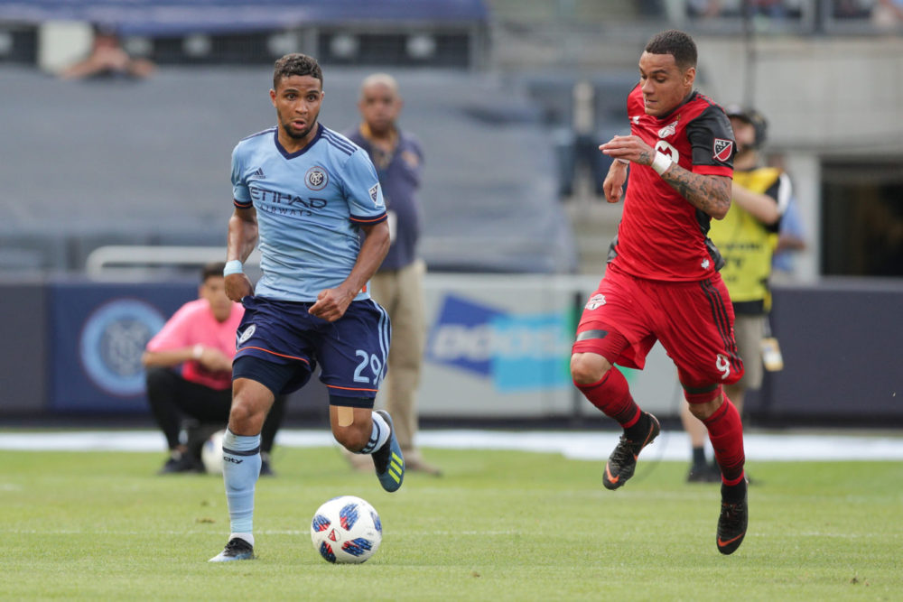 Gregory van der Wiel during Toronto FC vs New York City FC