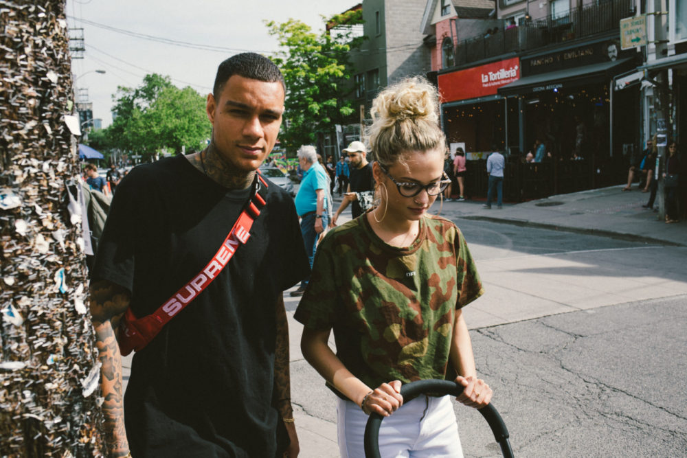Gregory van der Wiel & Rose Bertram with buggy
