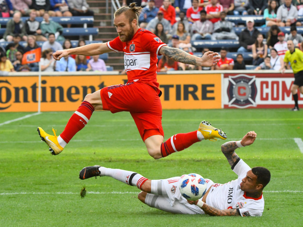 Gregory van der Wiel - Sliding - Toronto FC vs Chicago Fire