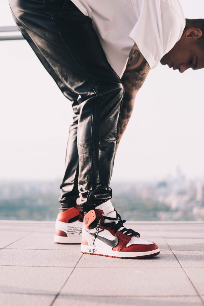 Gregory van der Wiel - Nike Air Jordan 1 Off White shoelaces